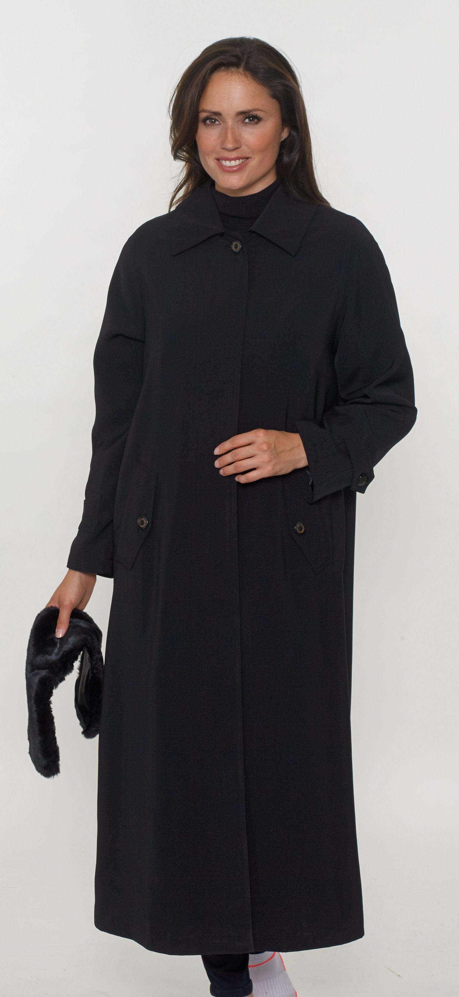 Womens Luxury Faux Silk Full Length Coat